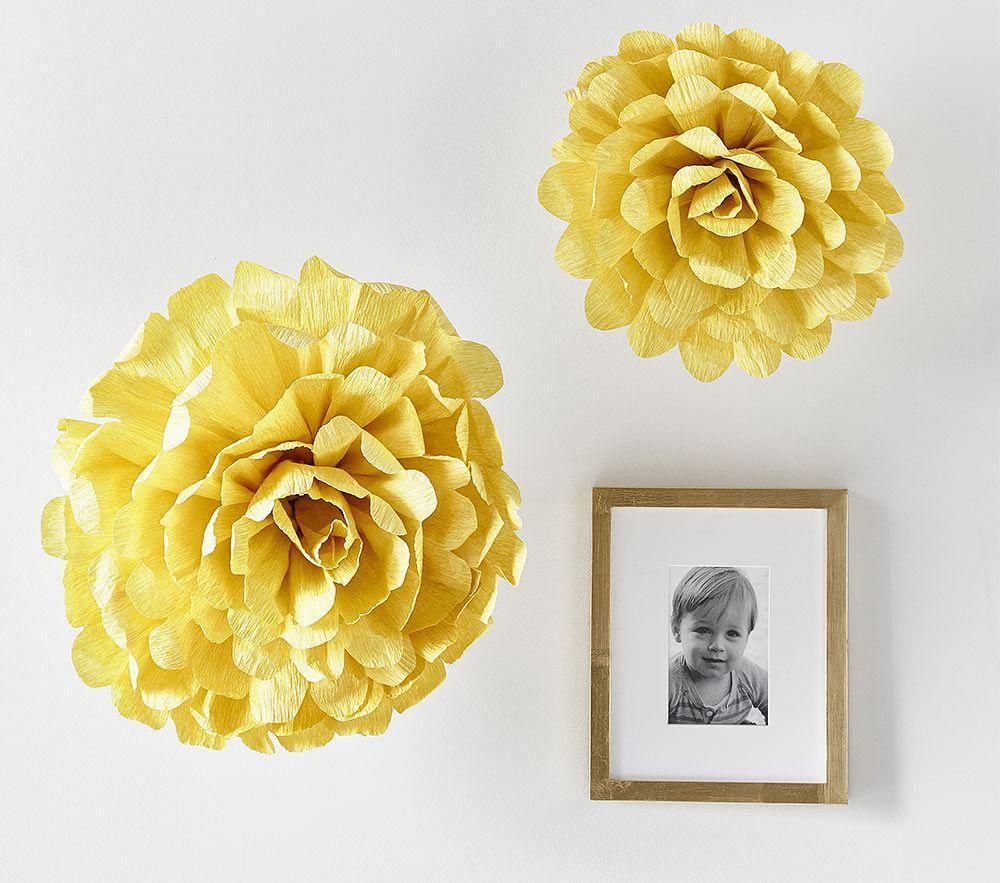 Marigold Oversized Crepe Paper Flowers Set Of 2 Pottery Barn Kids