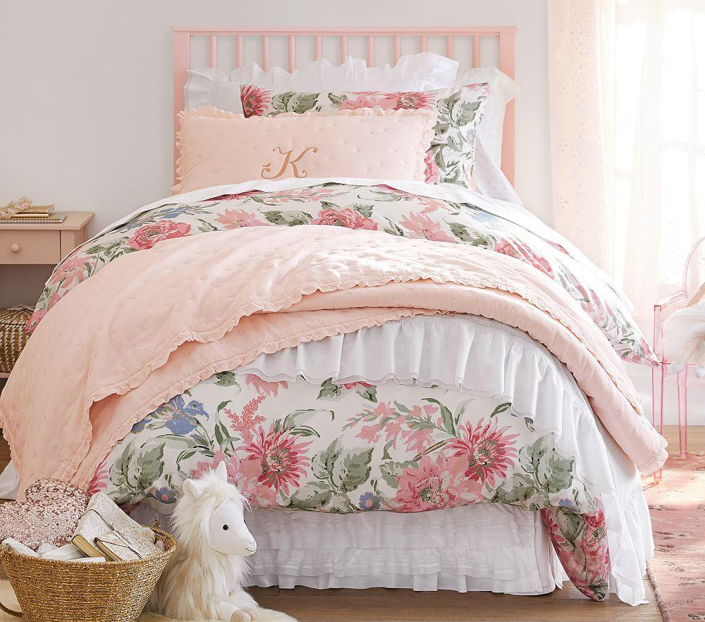 Tencel 174 Garden Rose Quilt Cover Pottery Barn Kids