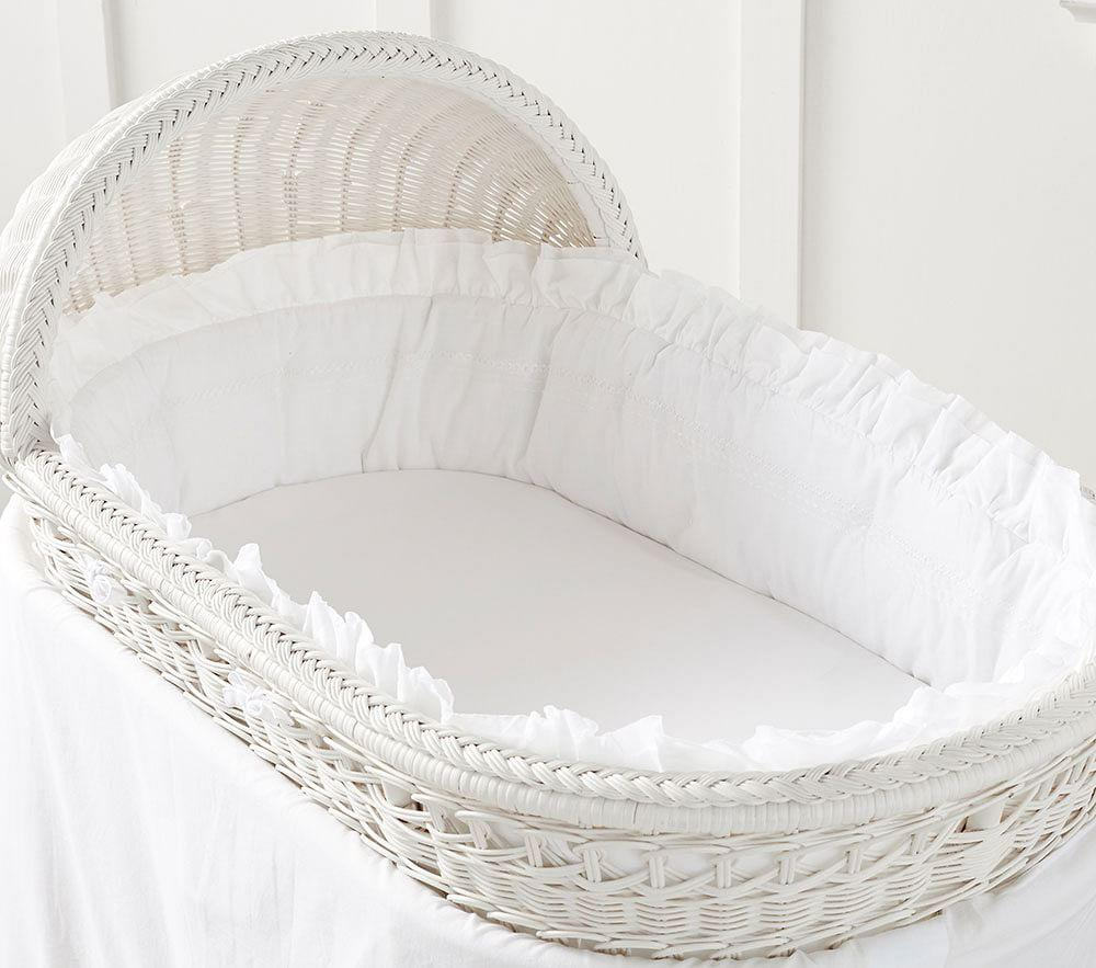organic sadie ruffle bassinet bedding set - Bassinet Bedding