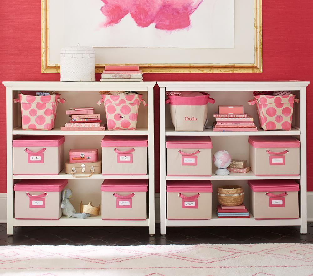 pink for toys girls organizer bedroom ebay bins bookcase cubby wood s itm shelf storage