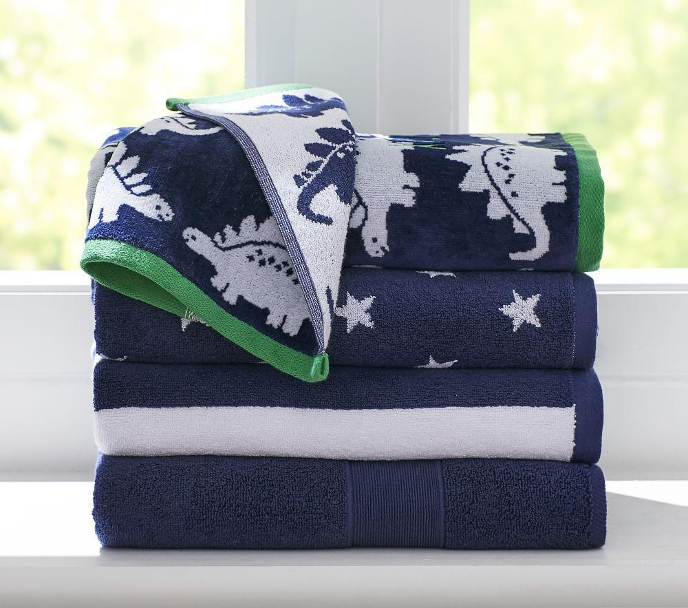 Dino Bath Towel Collection Pottery Barn Kids