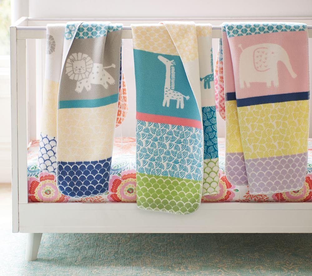 Fuzzy Animal Baby Blankets | Pottery Barn Kids