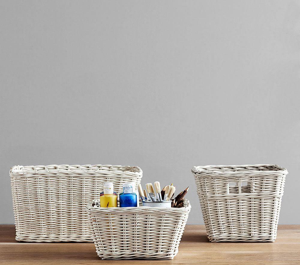 Sabrina Basket Collection, Simply White