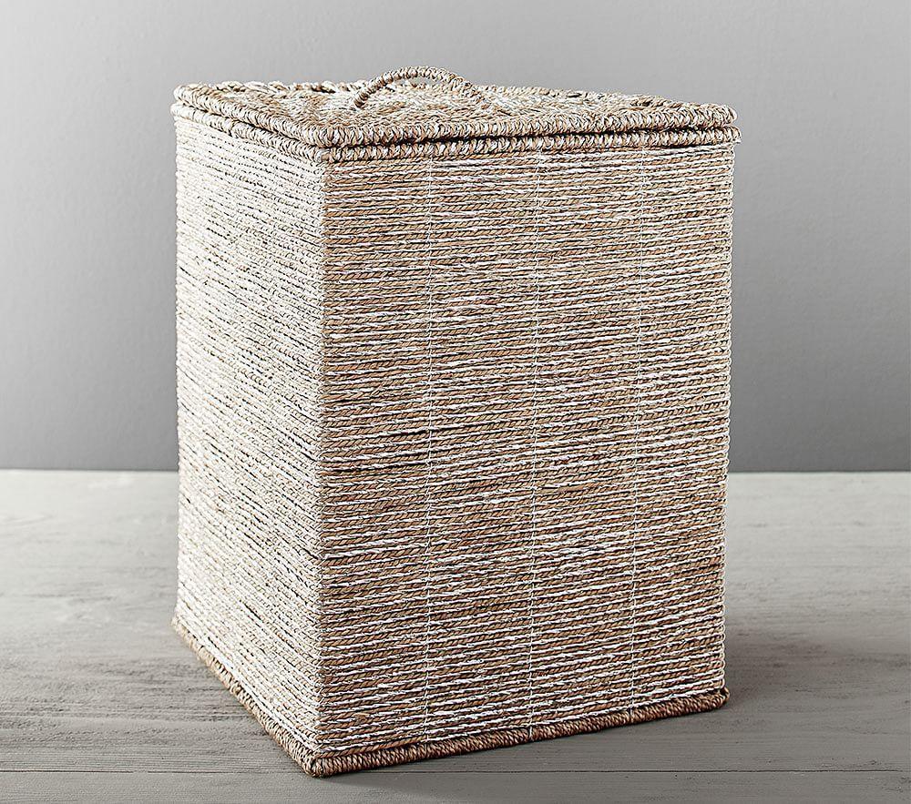 Silver Rope Corner Basket