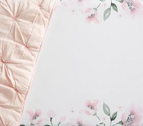 Organic Picture Perfect Meredith Floral Cot Fitted Sheet