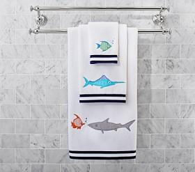 Under the Sea Shark Bath Towel Collection