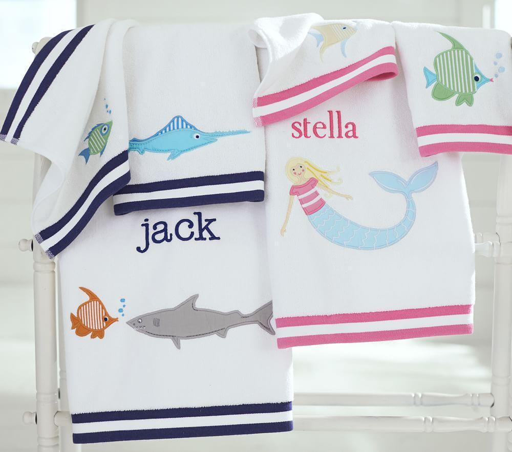 Under the Sea Mermaid Bath Towel Collection