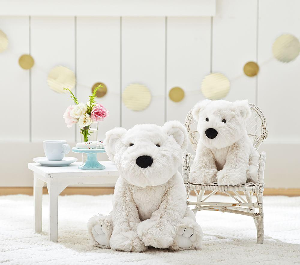 Faux Fur Polar Bear Plush Pottery Barn Kids