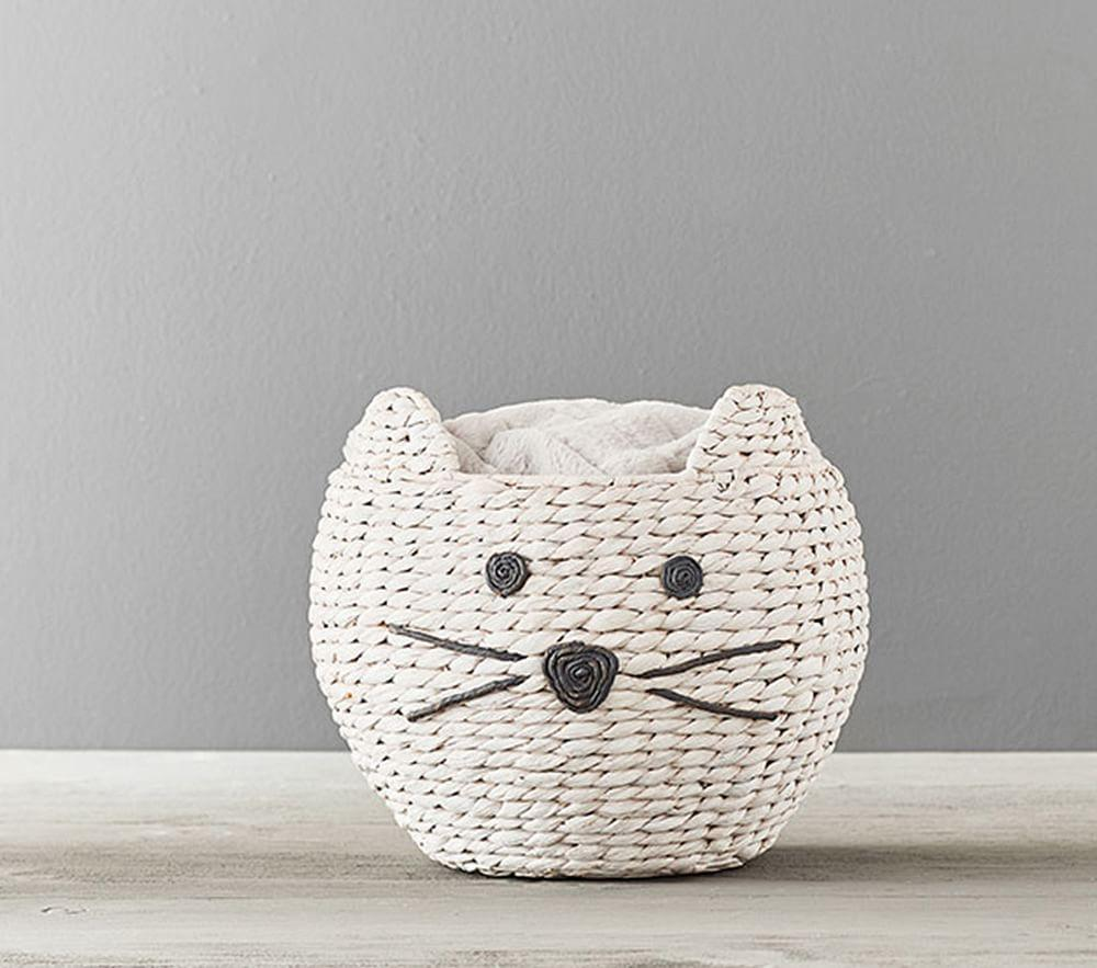 Kitty Shaped Wicker Basket