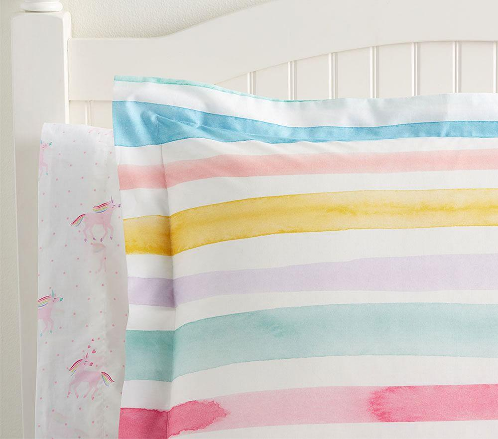 Organic Kayla Rainbow Stripe Quilt Cover Pottery Barn