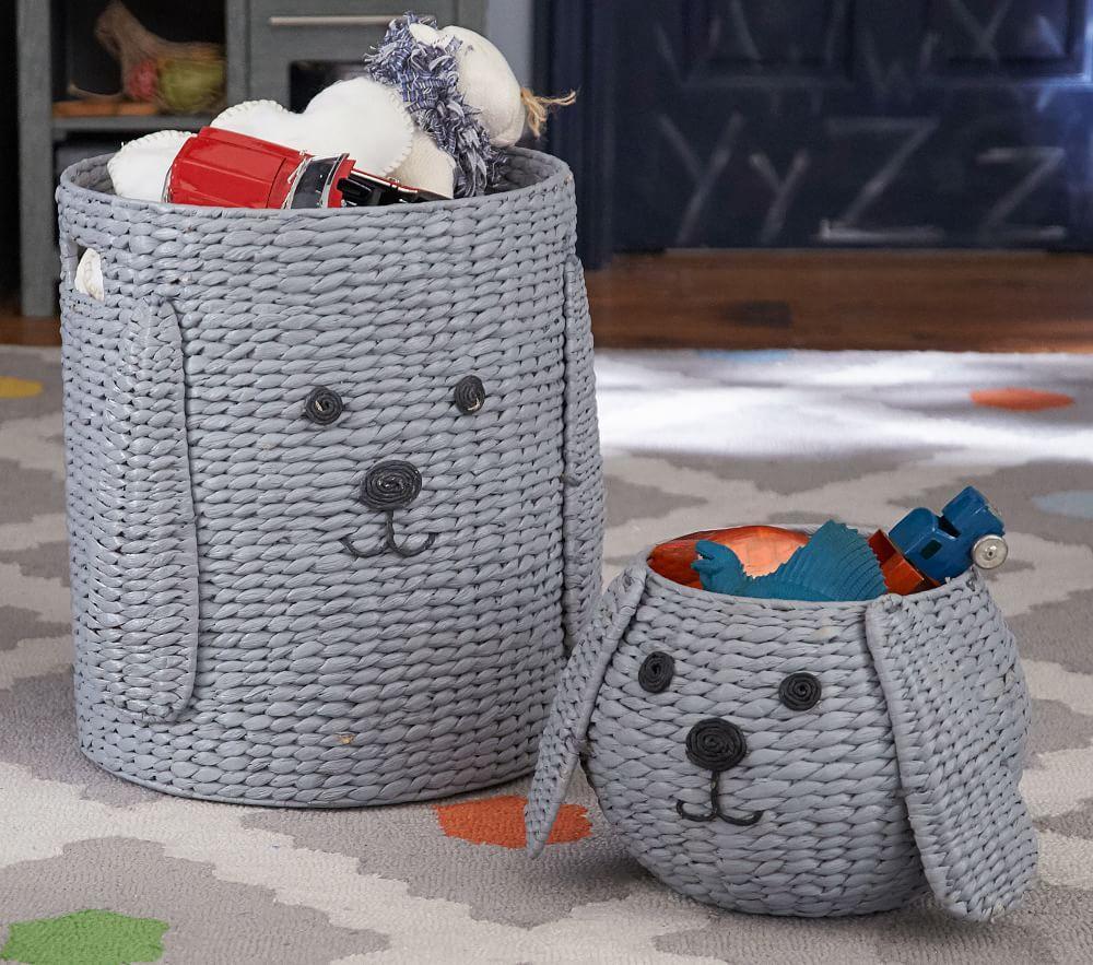 Puppy Shaped Wicker Basket - Small