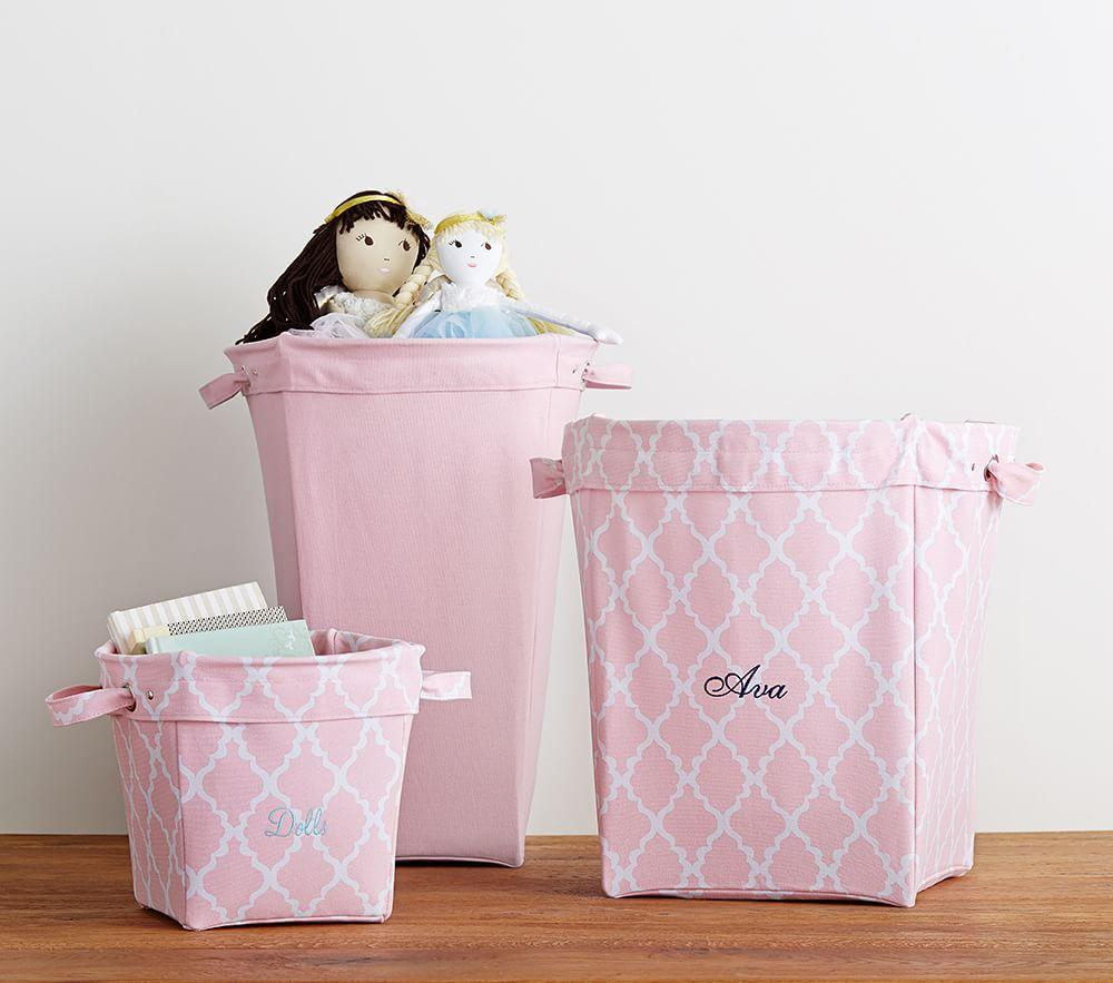 Light Pink Canvas Storage