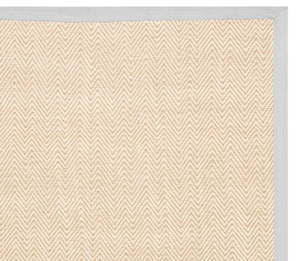 Chenille Jute Thick Solid Border Rug - Grey