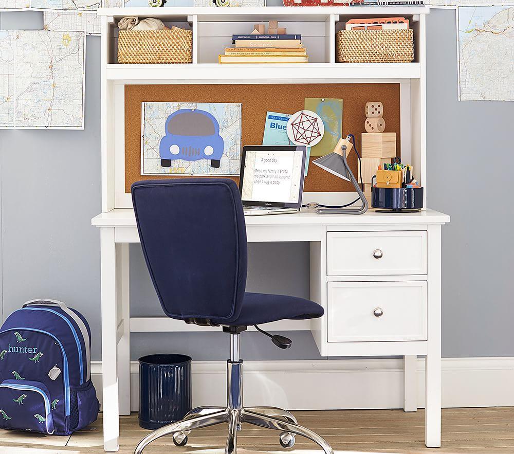 Elliott Desk & Hutch - Simply White
