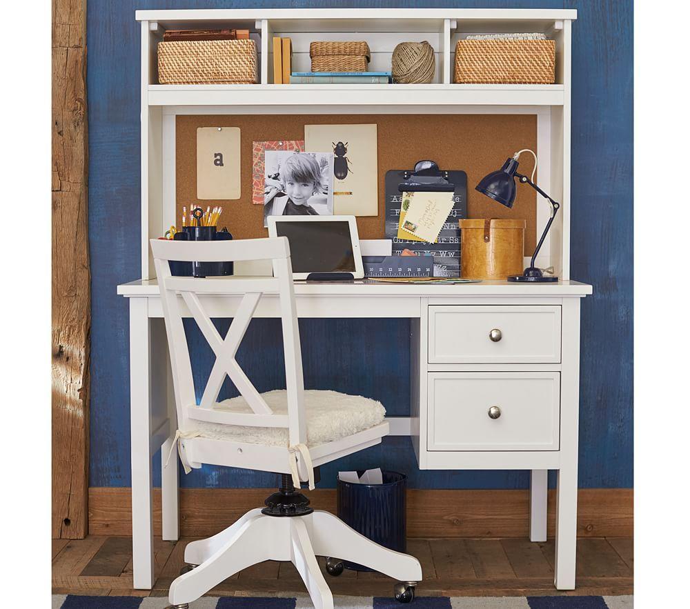 Elliott Desk Amp Hutch Simply White Pottery Barn Kids Au
