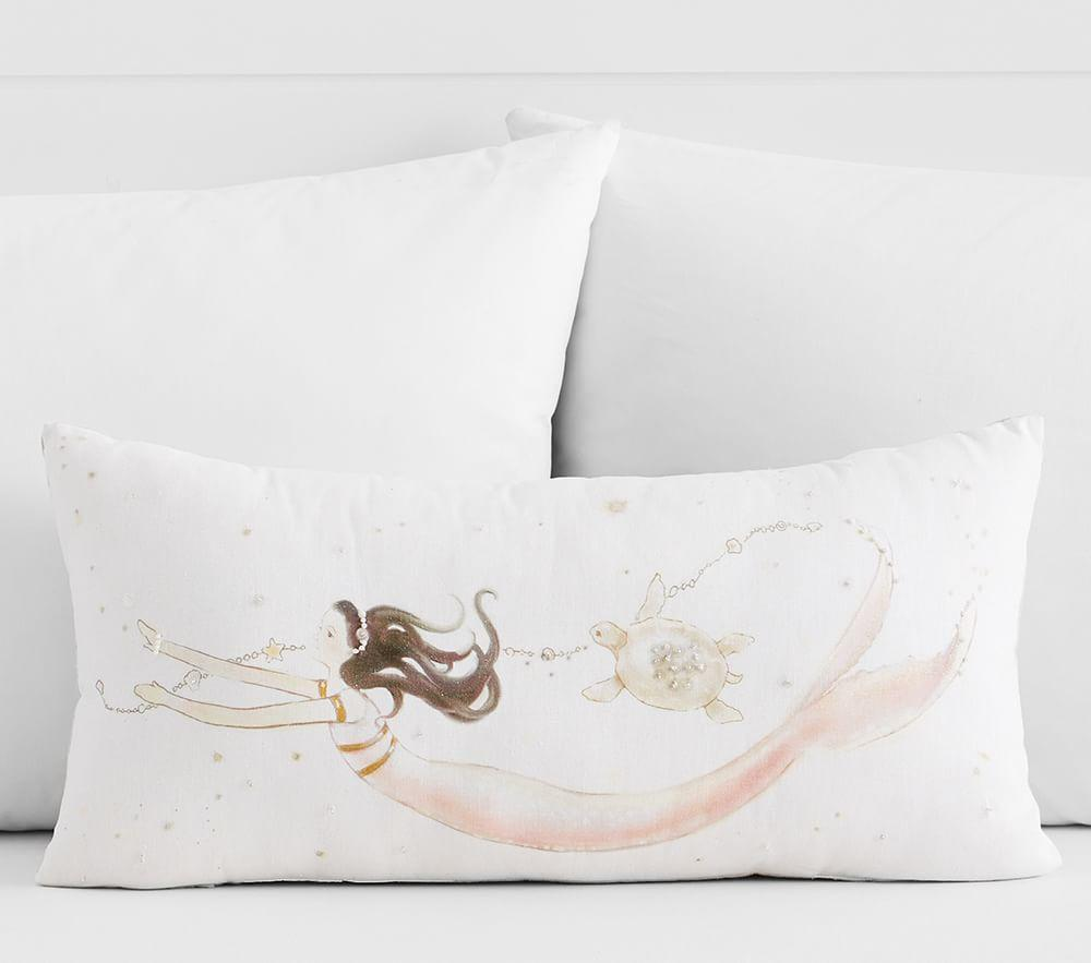 Mermaid Lumbar Decorative Cushion