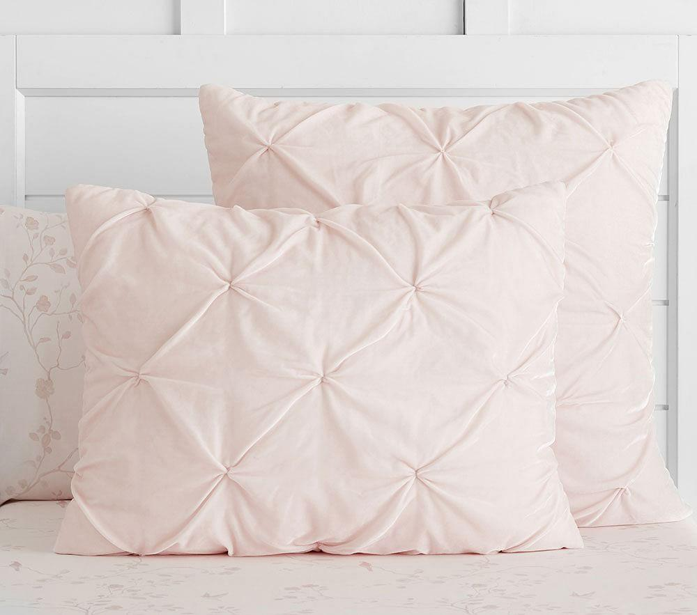 Monique Lhuillier Velvet Pintuck Comforter Pottery Barn