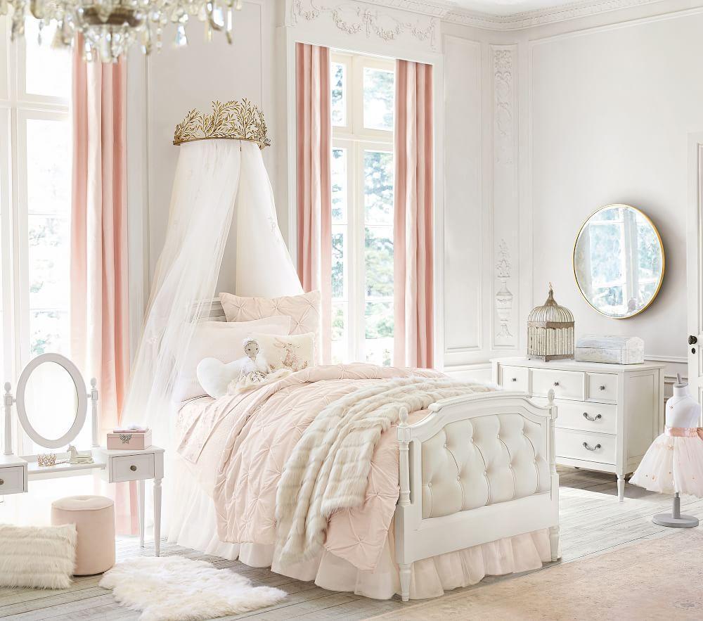 Monique Lhuillier Velvet Pintuck Comforter Pottery Barn