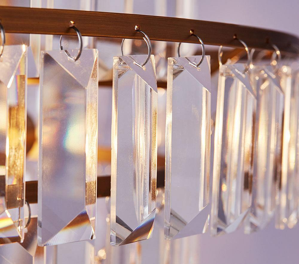 Rectangular Crystal Drop Chandelier - Hardwired