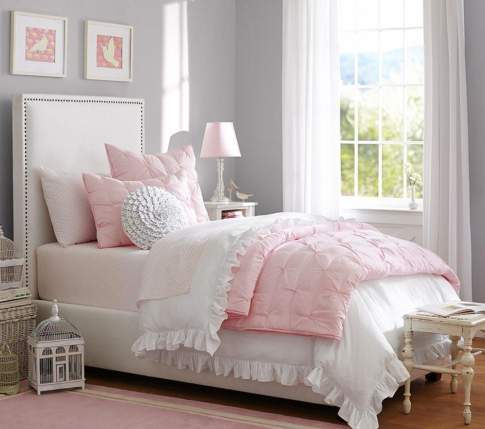 Audrey Quilted Bedding Light Pink Pottery Barn Kids