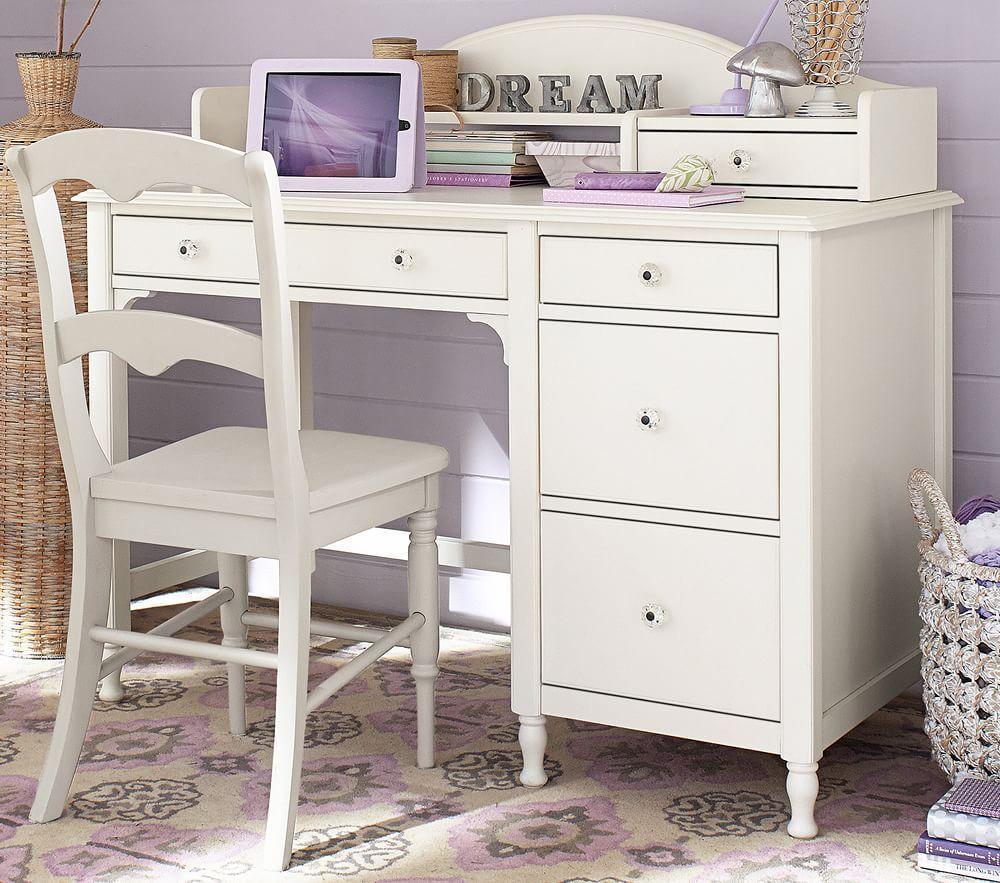 Juliette Storage Desk Amp Hutch French White Pottery