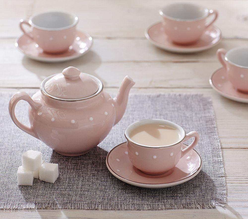 Pink Ceramic Classic Tea Set Pottery Barn Kids Au