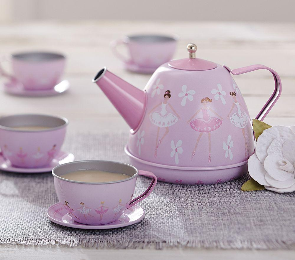 Ballerina Mini Tin Tea Set