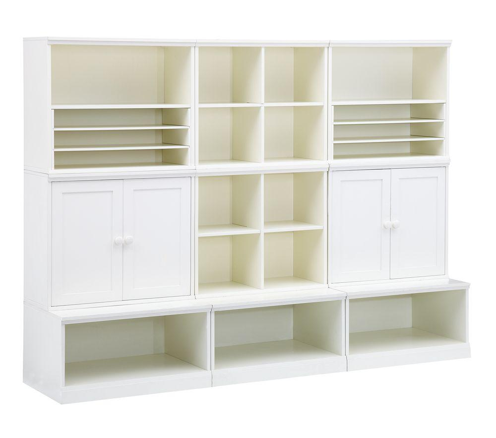 Cameron creativity storage system with open bases for Craft wall storage system