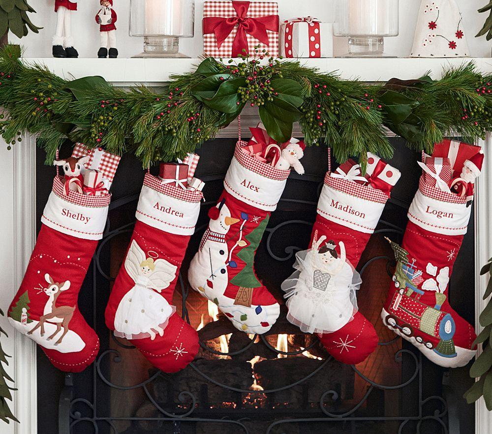 Holiday Decor Gift Ideas Pottery Barn Edition All My: Quilted Stocking Collection