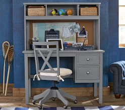 Elliott Desk & Hutch - Charcoal