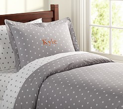 Organic Star Quilt Cover Navy Pottery Barn Kids Au