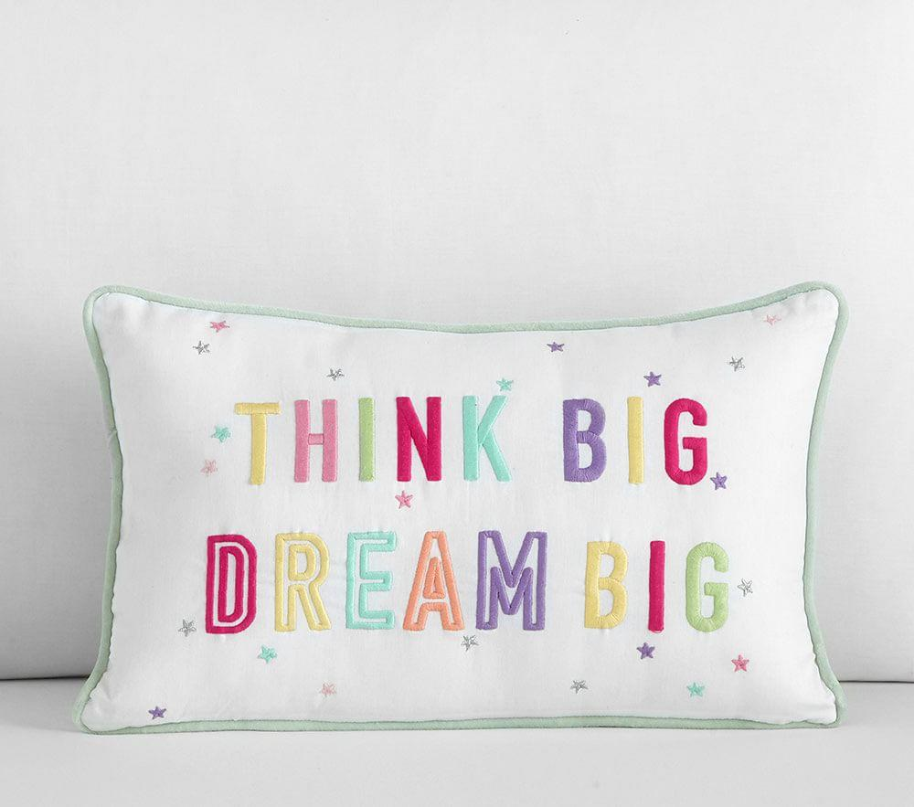 Dream Big, Think Big Decorative Cushion | Pottery Barn Kids
