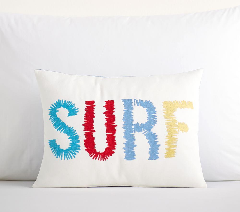 Embroidered Surf Cushion | Pottery Barn Kids