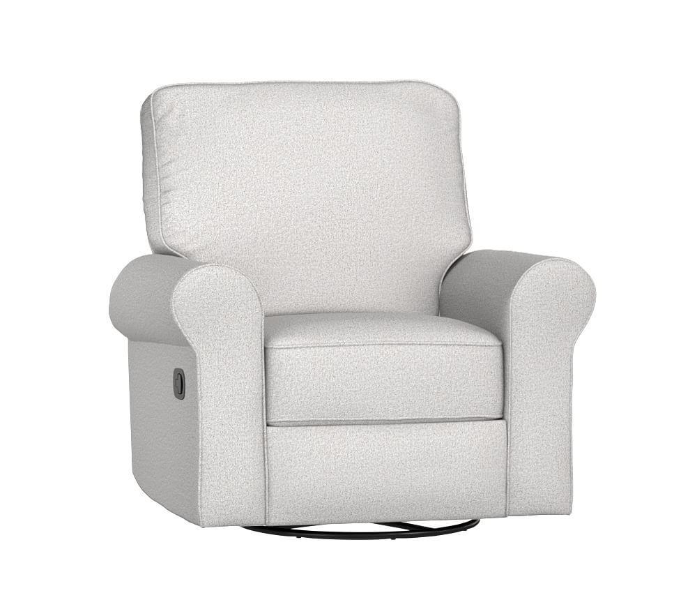 Comfort Swivel Rocker & Recliner - Chenille Tweed, Light Grey