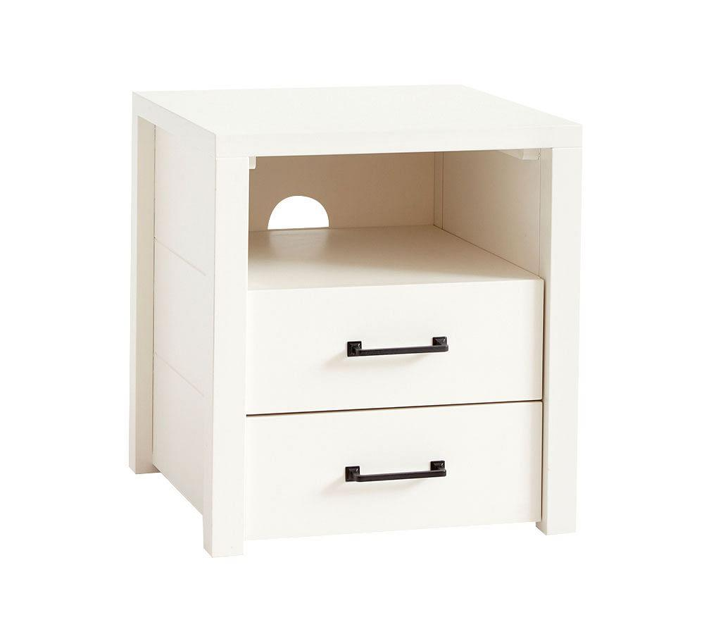 Grayson Bedside Table - Simply White