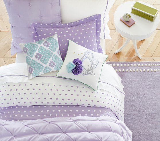 Heart Sheet Set Lavender Pottery Barn Kids Au