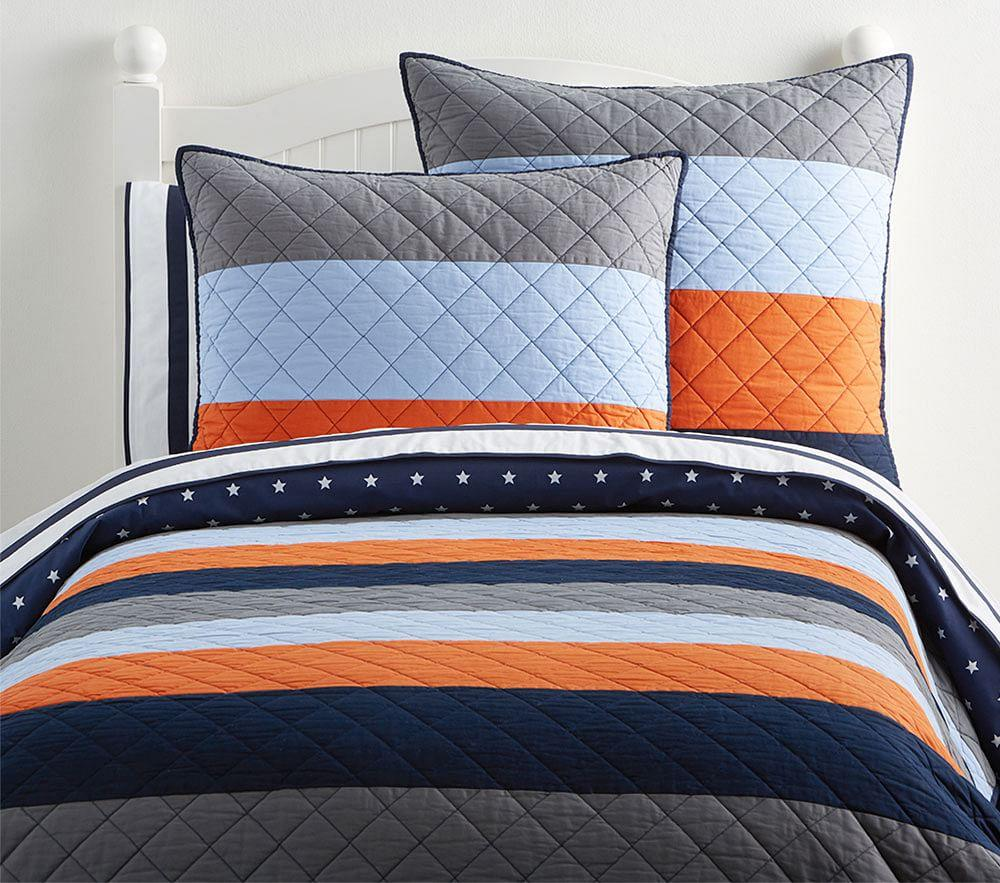 Blocked Stripe Comforter