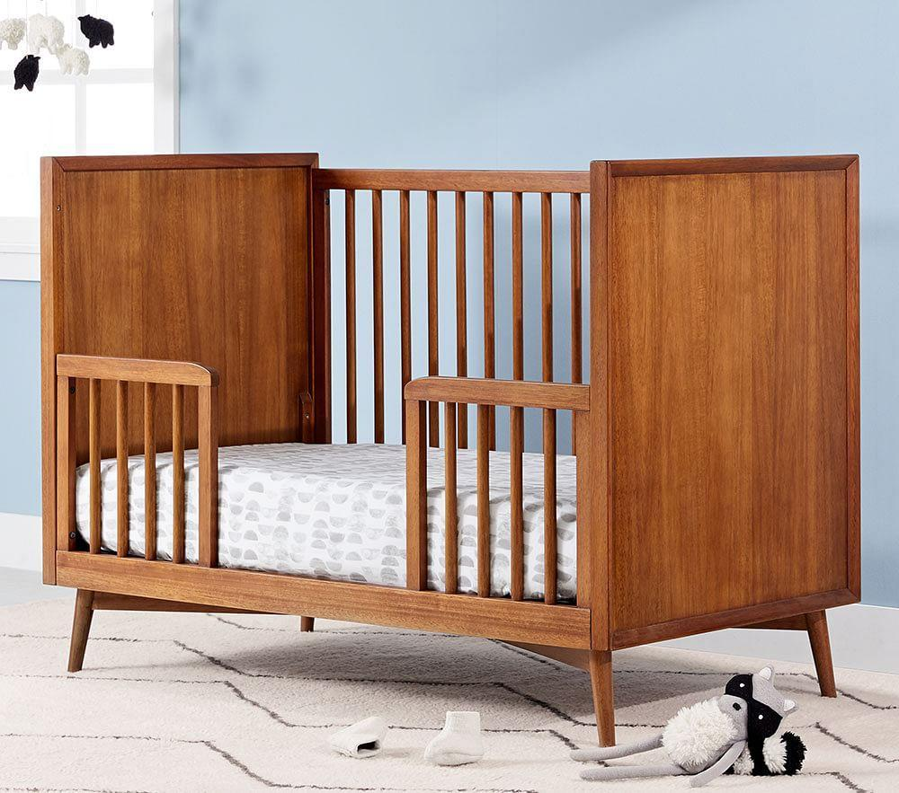 west elm x pbk Mid-Century Toddler Bed Conversion Kit, Acorn