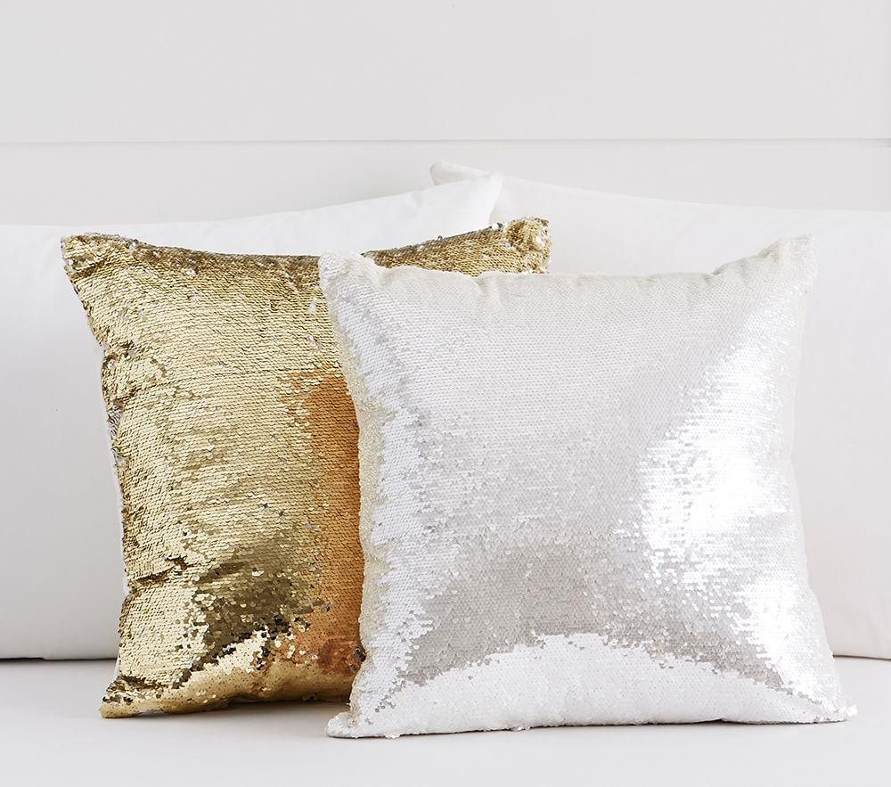 Mermaid Sequin Decorative Cushion