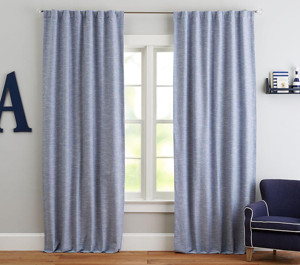 Evelyn Linen Blend Blackout Curtain