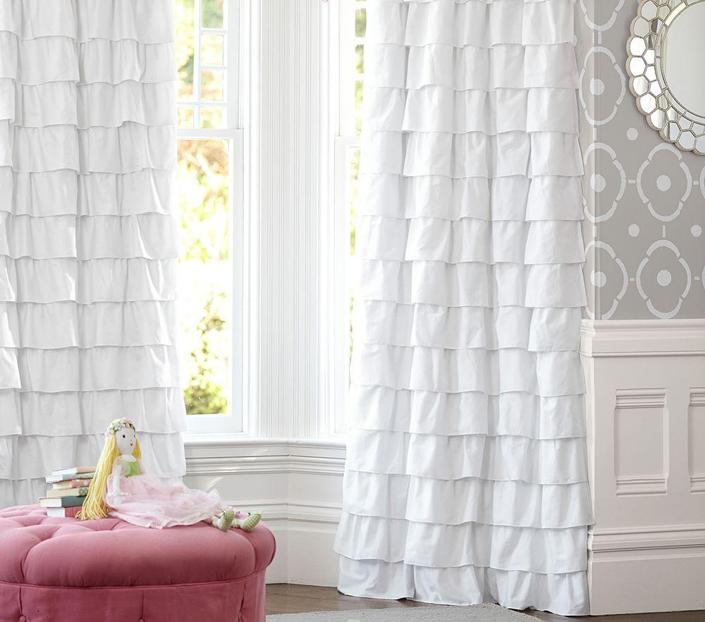 Ruffle Blackout Curtain Pottery Barn Kids Au