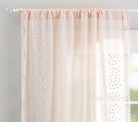 Embroidered Border Sheer Panel