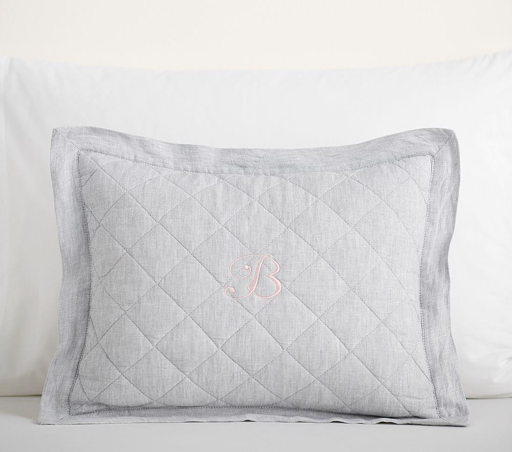 Belgian Flax Linen Cushion Cover - Grey