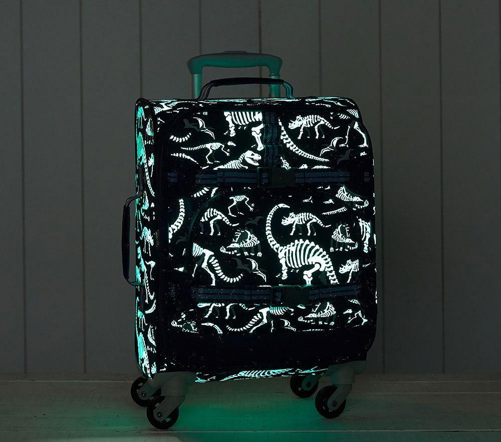 Mackenzie Blue Grey Glow-in-the-Dark Dino Luggage