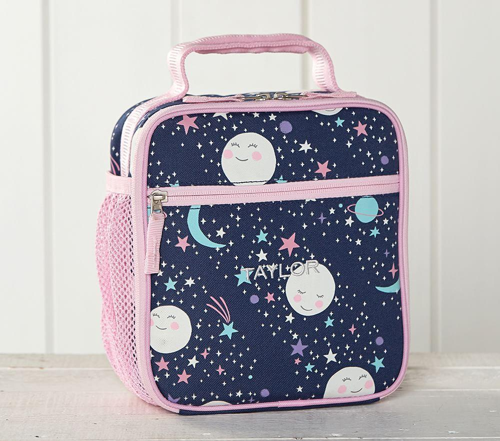 Mackenzie Pink Navy Glow-in-the-Dark Moons Classic Lunch Bag
