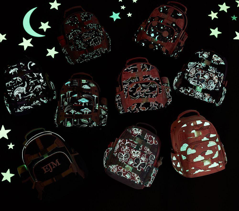 Mackenzie Navy Solid Glow-in-the-Dark Backpacks