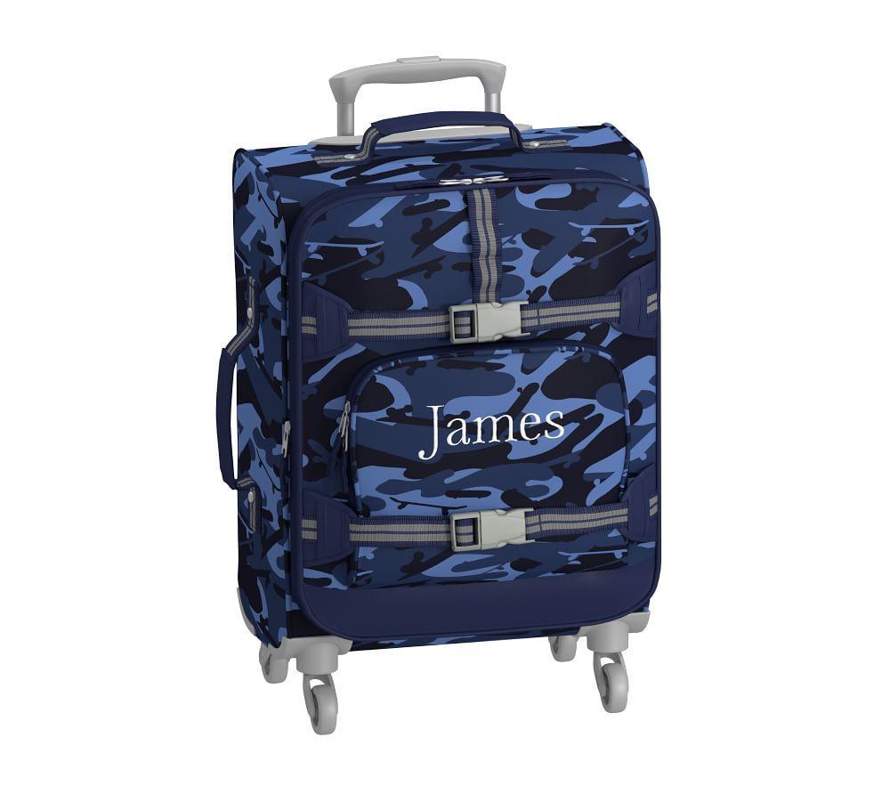 Mackenzie Navy Skateboard Camo Spinner Luggage