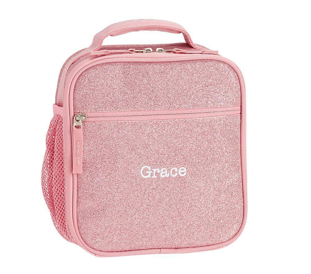 Mackenzie Pink Glitter Classic Lunch Bag