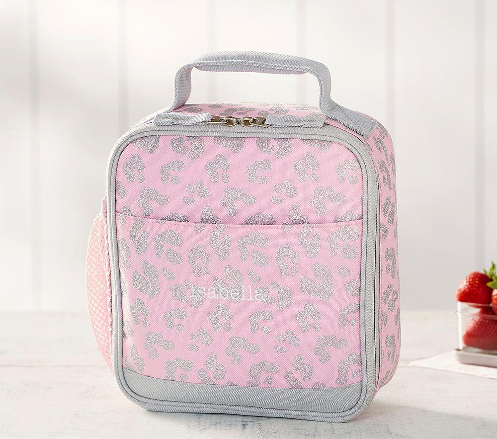 Mackenzie Pink Glitter Kitty Classic Lunch Bag