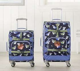 d1bf1dd24f58 Mackenzie Navy Blue Sharks Spinner Luggage
